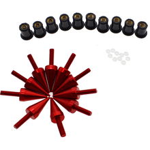 Universal motorcylce windshield bolts aluminum plastic material professional racing windscreen screw for repair kits