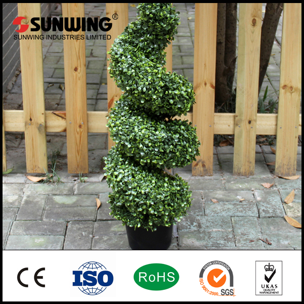 artificial spiral tree topiary tree palm plants