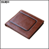 Retro rfid leather bifold men wallet card holder