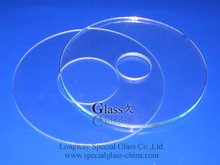 Durable Cheap drilled glass sheet optical temper lens