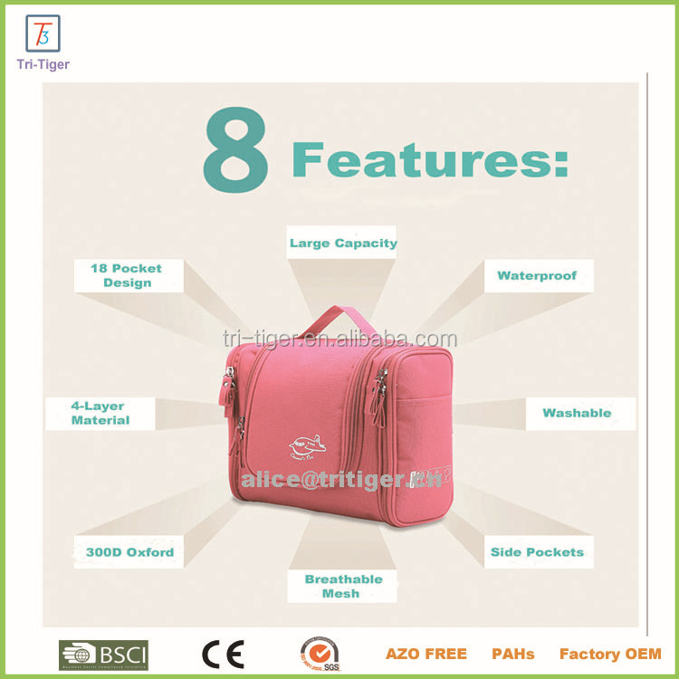 Portable Fabric Travel Toiletry Bag Travel Organizer Travel Cosmetic Bag