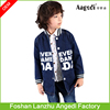 hot sale kids clothing long length printed denim childrens jackets wholesale boy denim jacket