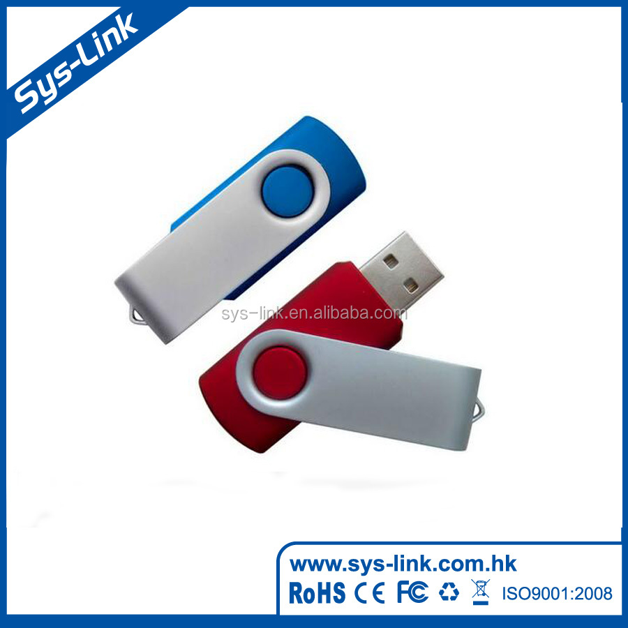 Factory supply 15.9g hot sell swivel usb flash drive
