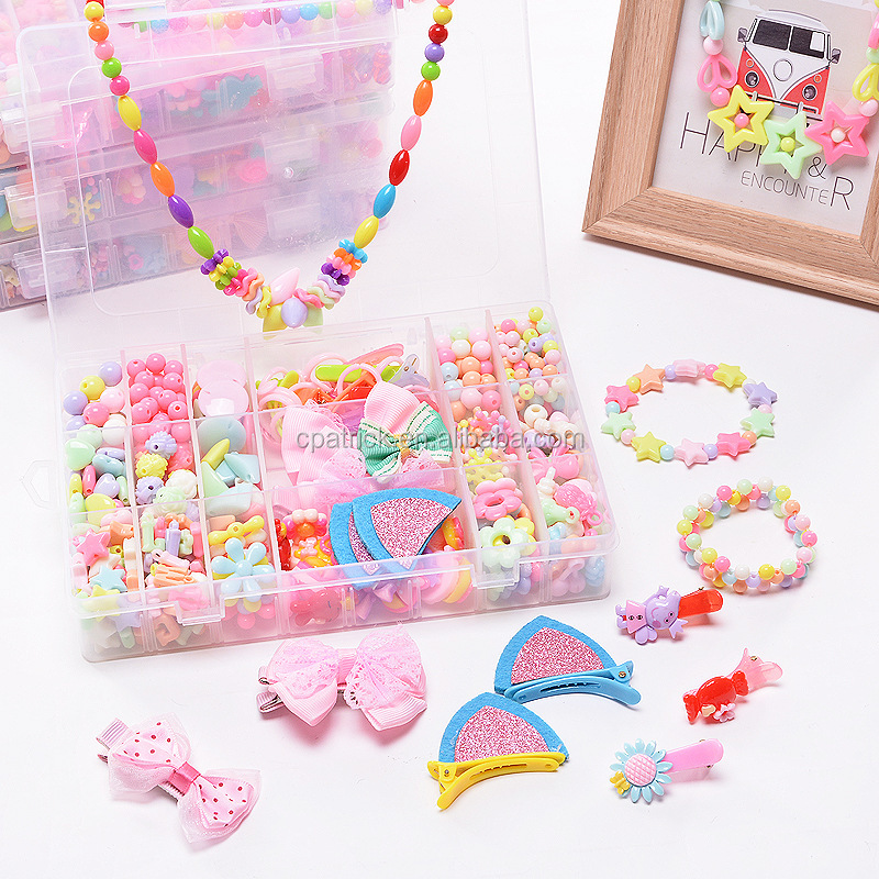 New pop bead Jewelry Beads, diy beads Crafts Arts Jewelry Making Kits for Children's DIY Bracelets Necklace Hair band