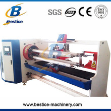 4 Shafts Adhesive roll tape slitting cutting machine / log roll slitter