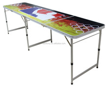 8ft beer pong set/ foldable MDF PONG TABLE/ALUMINUM BEER PONG TABLE-eastony