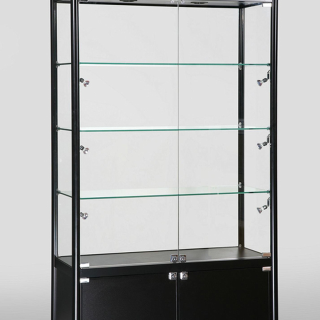 Luxuries store high end jewelry glass display cabinet showcase