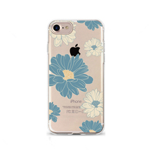 Crystal clear flower patterns soft tpu back case tpu case for iPhone 7 7 Plus,mobile phone shell