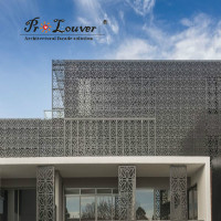 aluminum perforated engraved laser cutting decoration panel for curtain wall