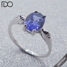 High quality promotion tanzanite color keepsake wedding rings