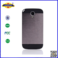 brushed aluminum metal back cover phone case for galaxy s4 i9500 Laudtec