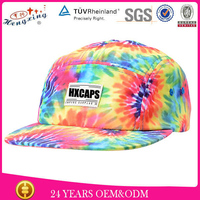 Fashional Digital Printed Red Wine Color Popular Corona 5 Panel Hat Wholesale Hats Caps