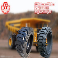Best price puncture free 10 16.5 solideal solid tyre, skid steer tires 12x16.5