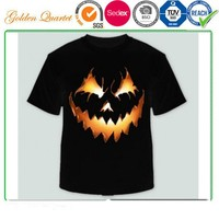 2012 fashion Halloween pumpkin led panel t shirt