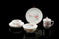 Buy one set get one mug free! Chinese style China Well-Known Trademark Hand Painted Underglaze Porcelain 30pcs dinner set