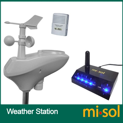 IP OBSERVER Solar Powered Wireless Internet Remote Monitoring home Weather Station MS-WS-2600-1