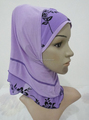 H318 beautiful small girl combine muslim hijab,new style scarf hijab