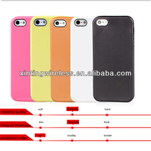 Soft TPU Plastic Shell Mobile Phone Back Cover Cases For IPhone 5S 5G