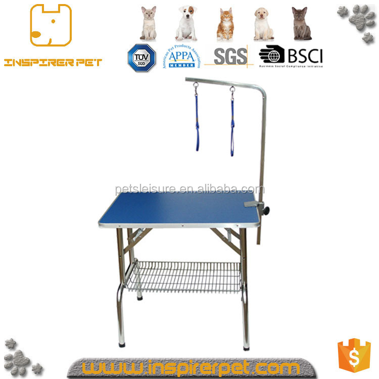 Adjustable Stainless Steel foldable pet grooming tables