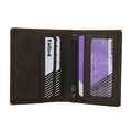 Mens Small Slim Bifold Genuine Leather Wallet Coins Card Holder