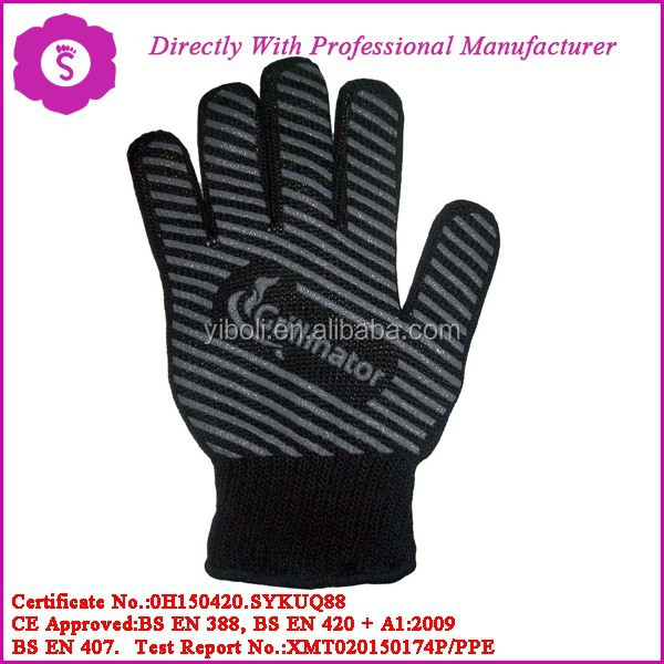 Home kitchen and garden silicone cooking gloves hot fire flame protective heat resistent oven gloves microwave grill, BBQ glove