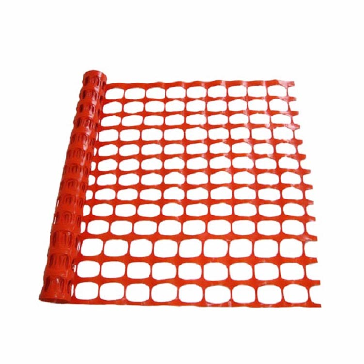 Orange Warning HDPE pvc/pe coate wire chain link fence