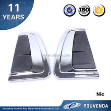 ABS Chrome side air vent cover For Toyota Hilux Revo 2015 Car Hood Scoop side lamp cover 4x4 accessories