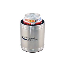 eco-friendly metal type snap on stainless steel can holder cola beer cooler