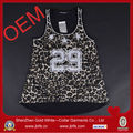 2014 custom fashion leopard printed OEM tank top