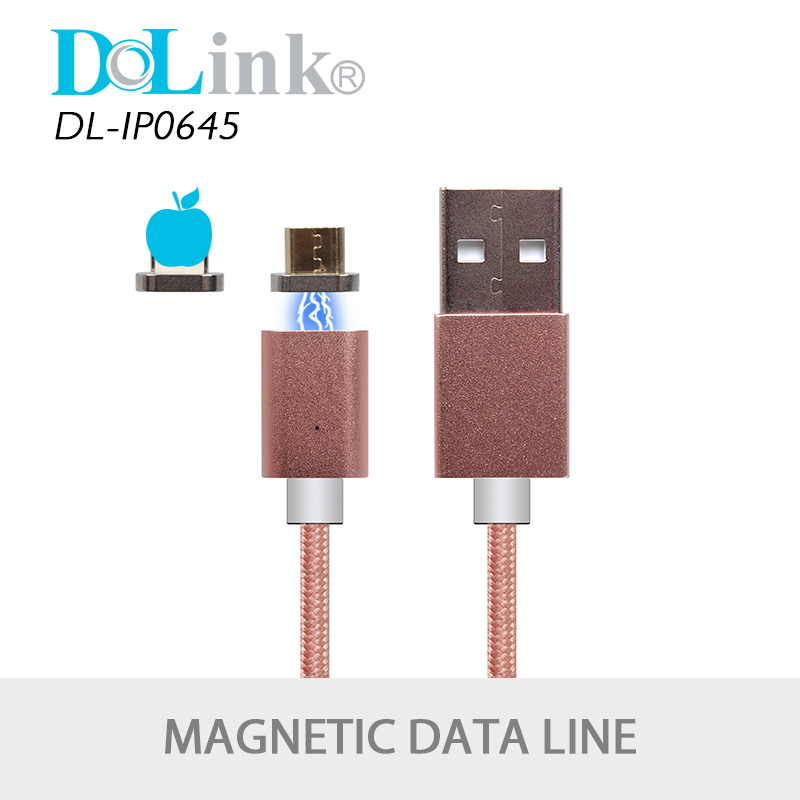 Wholesale Mobile Smartphone QC Zinc Alloy Nylon Braided Data Micro Usb Magnetic Charging Cable For iPhone