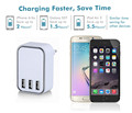 5V cellphone charger 22.5W KC charger, 3 port usb charger usb multi charger with CE FCC ROHS KC CB SAA
