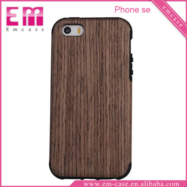 Wood Cover TPU Case For iPhone 5 Se Soft Wood TPU Case For iPhone 5 Se
