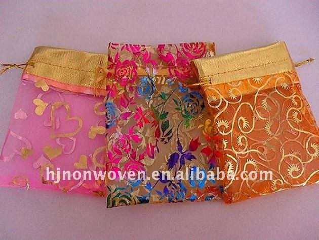 Top Selling Bronzed Organza Gift Bag and Jewelry Bag and Candy Bag