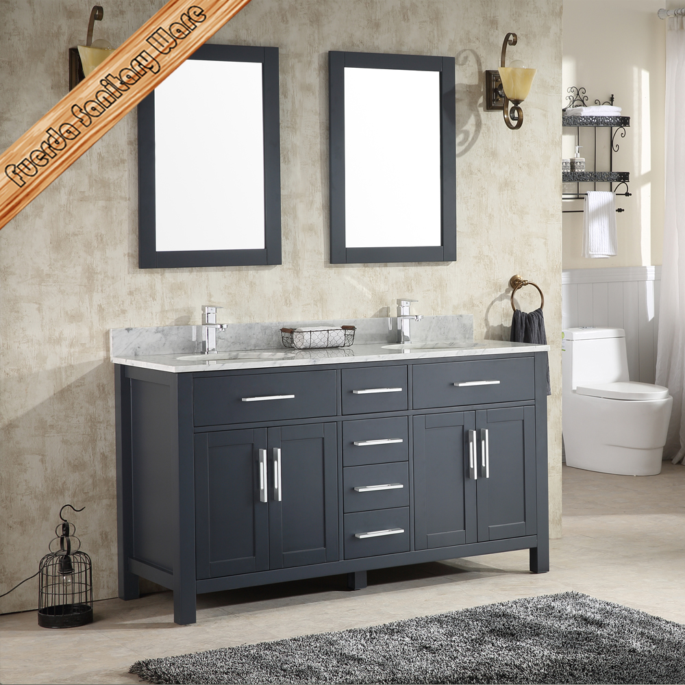 navy gray solid wood bathroom vanity bath cabinet