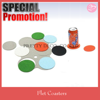 Provide colorful cheap felt coaster set made in China