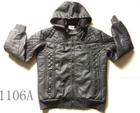 Zipper type latest fashion man cheap hood jacket leather