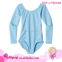 Hot sales Ballet Gymnastics blue Cotton Child Dance Girl dance leotard