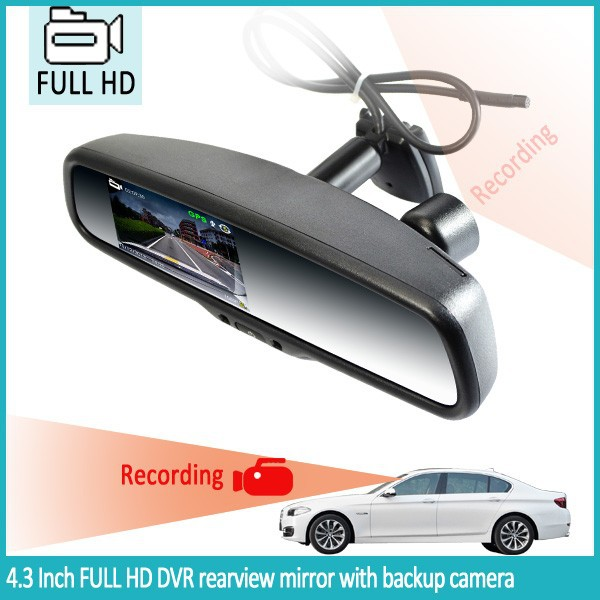 oem car dash cam rear view mirror gps bluetooth camera with auto dimming rearview mirror