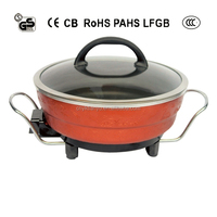 ELECTRIC MONGOLIAN STYLE COOKING POT SUPER POWER 1500W WITH DIVIDER