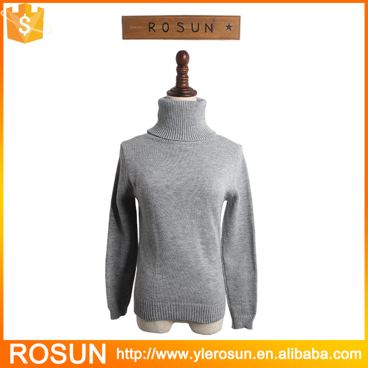 2016 turtle neck ribbed trim warm comfortable pull over