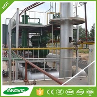 Recycling type machine used engine oil to diesel distillation plant