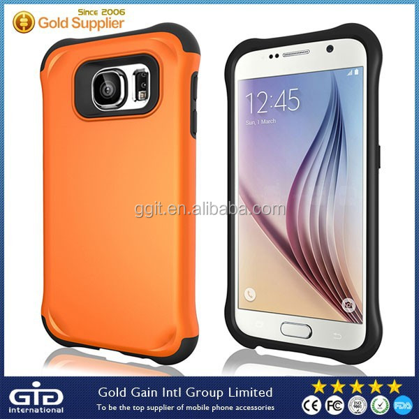 Armor light PC+TPU Case For Samsung For Galaxy S6 Hybrid Cover