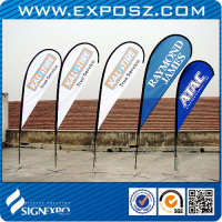 Teardrop Banner,Outdoor Car Foot, Ground Spike & Water Base Displays