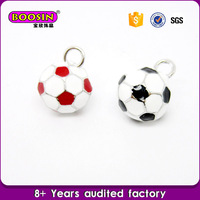 Wholesale factory price enamel jewelry charm, sports charm football charm