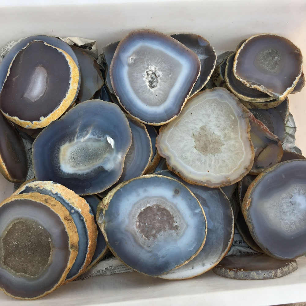 Cheap and fine Hot sale product natural crystal Polished large quartz agate slices stone