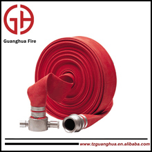 Rubber covered hose for fire extinguishing