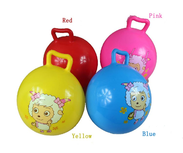 kids hopper bouncy ball with handles for riding