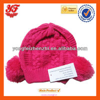 New Fuchsia acrylic knitting baby hat for wholesale