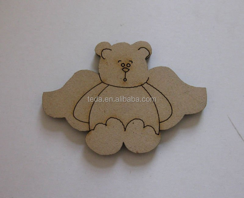 hot MDF Dog design for children toy christmas decoration accept customized