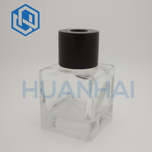 High Quality ! Cube Glass Bottle Car Air Freshener Perfume Bottle with Aluminium Cap